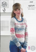 King Cole Opium Knitting Pattern - 4187 Sweater & Top